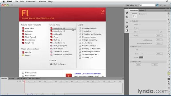 Understanding Flash file types: Flash Professional CS5 Essential Training