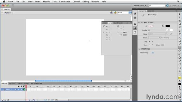 Working with panels: Flash Professional CS5 Essential Training