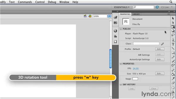 Working with the toolbar: Flash Professional CS5 Essential Training