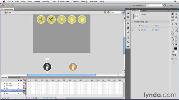 Using the Zoom and Hand tools: Flash Professional CS5 Essential Training