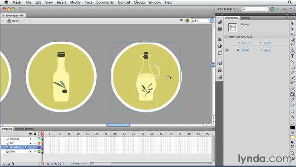 Using the Eyedropper tool: Flash Professional CS5 Essential Training