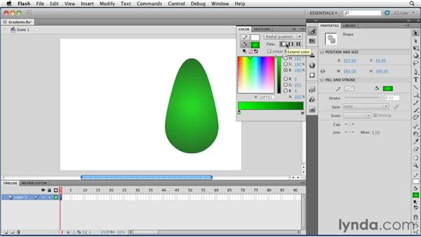 Creating gradients: Flash Professional CS5 Essential Training