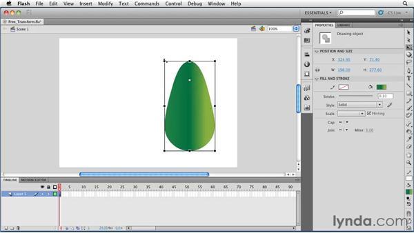 Using the Free Transform tool : Flash Professional CS5 Essential Training