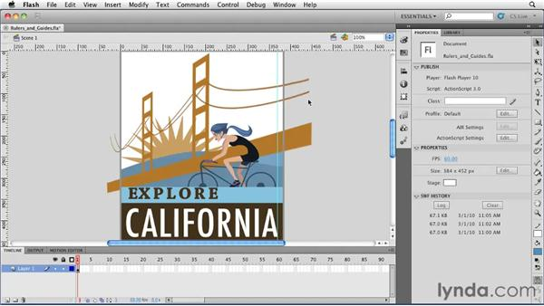 Using rulers and guides: Flash Professional CS5 Essential Training