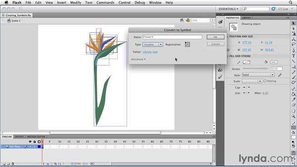 Creating graphic symbols: Flash Professional CS5 Essential Training