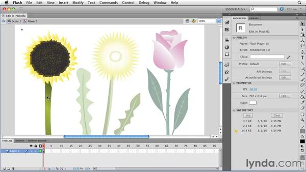 Understanding the Editing in Place mode: Flash Professional CS5 Essential Training