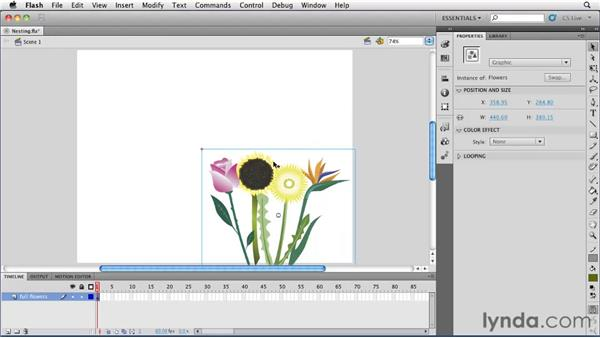 Nesting symbols: Flash Professional CS5 Essential Training
