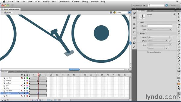 Creating a simple animation: Flash Professional CS5 Essential Training