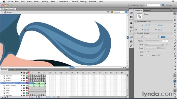 Using Shape Hints: Flash Professional CS5 Essential Training