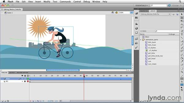 Editing a motion path : Flash Professional CS5 Essential Training