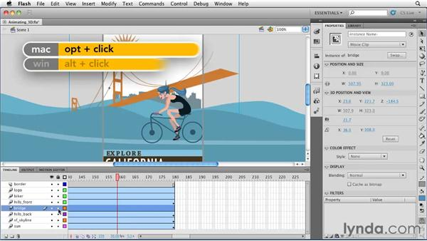 Animating 3D objects : Flash Professional CS5 Essential Training