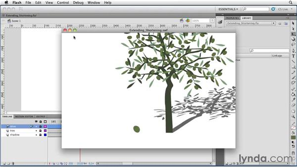 Extending and shortening animations: Flash Professional CS5 Essential Training