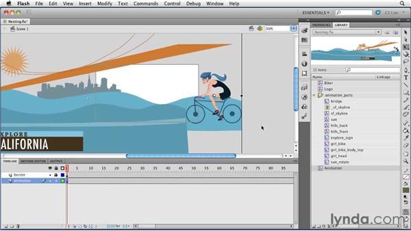 Creating nested animations : Flash Professional CS5 Essential Training