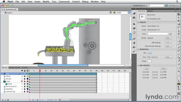 Creating IK animations: Flash Professional CS5 Essential Training