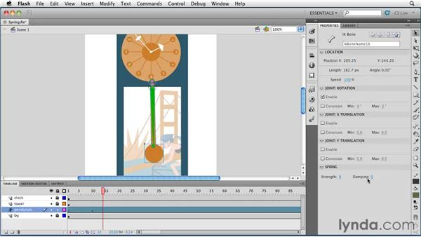 Adding spring to IK animations: Flash Professional CS5 Essential Training