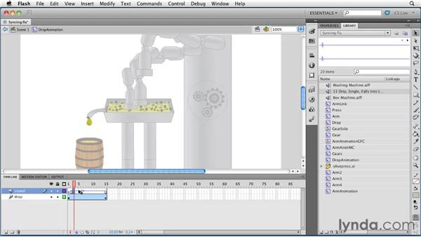 Syncing sound to an animation: Flash Professional CS5 Essential Training