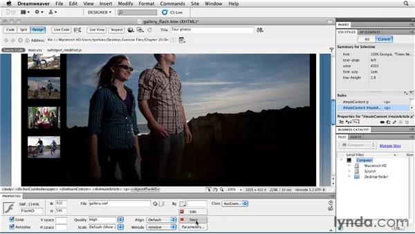 Integrating with Dreamweaver: Flash Professional CS5 Essential Training