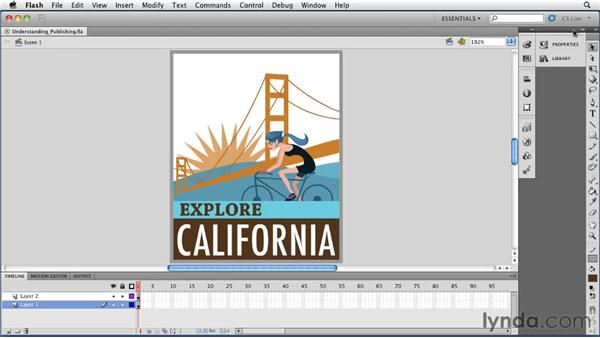 Understanding publishing in Flash: Flash Professional CS5 Essential Training