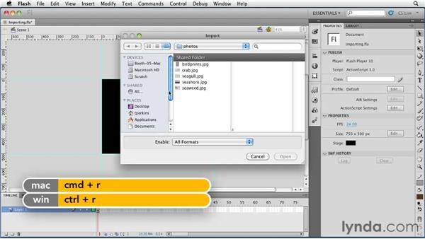 Importing photos into Flash: Flash Professional CS5 Essential Training