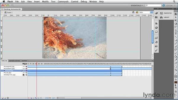 Finishing the animation: Flash Professional CS5 Essential Training