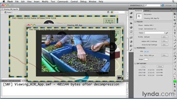 Viewing a simple AIR application: Flash Professional CS5 Essential Training