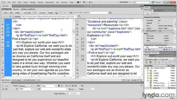 The Application toolbar: Dreamweaver CS5 Essential Training