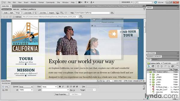 Arranging panels: Dreamweaver CS5 Essential Training