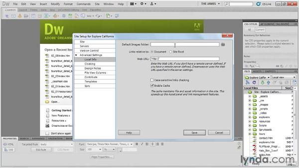 Managing sites: Dreamweaver CS5 Essential Training