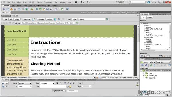 Managing starter pages: Dreamweaver CS5 Essential Training