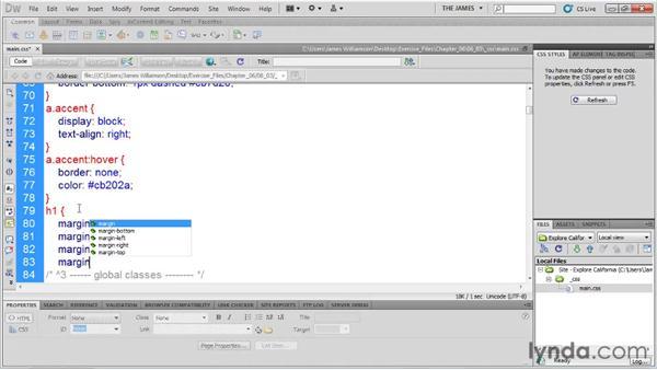 Setting CSS preferences: Dreamweaver CS5 Essential Training