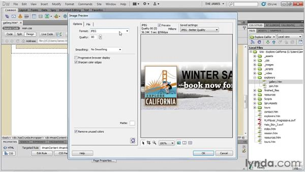 Photoshop integration: Dreamweaver CS5 Essential Training