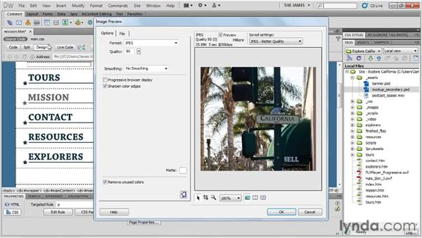 Alternate Photoshop workflows: Dreamweaver CS5 Essential Training