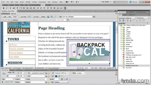 Planning for templates: Dreamweaver CS5 Essential Training