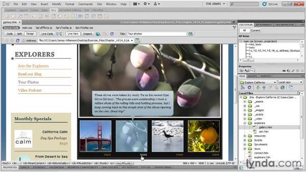 Behaviors overview: Dreamweaver CS5 Essential Training