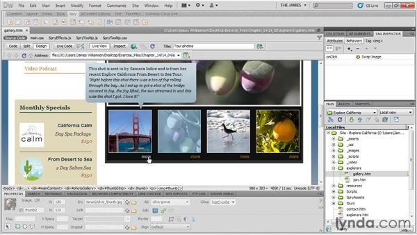 Spry overview: Dreamweaver CS5 Essential Training