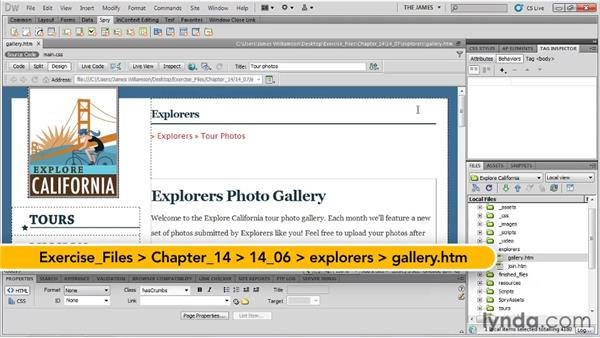Using the Widget Browser: Dreamweaver CS5 Essential Training