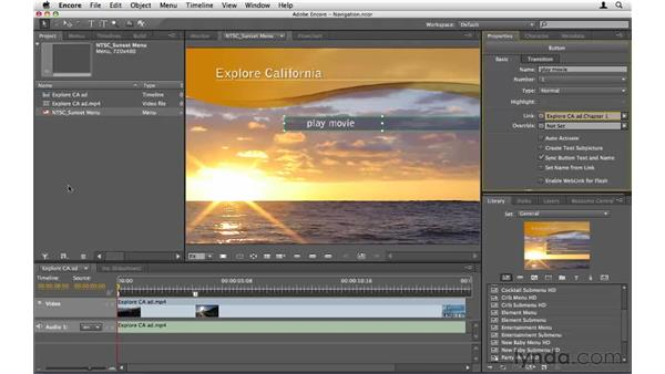 Creating links and navigation: Encore CS5 Essential Training