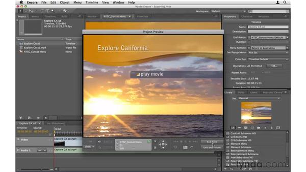 Exporting: Encore CS5 Essential Training