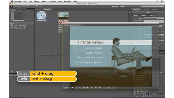 Touring the interface: Encore CS5 Essential Training
