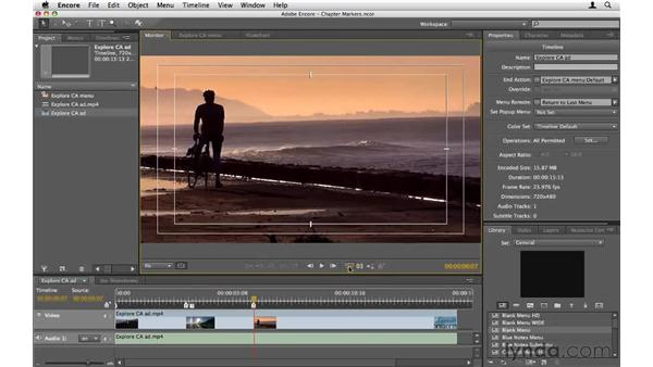 Creating chapter markers: Encore CS5 Essential Training