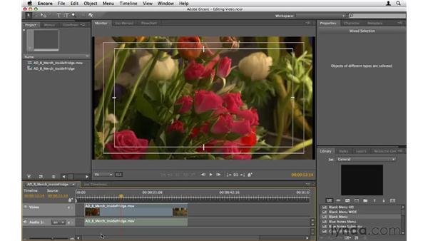 Editing video in the timeline: Encore CS5 Essential Training
