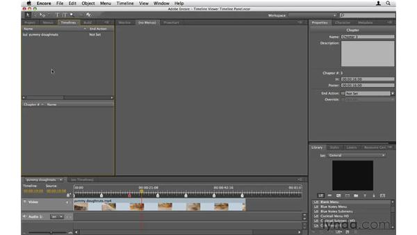 The Timeline Viewer vs. the Timeline panel: Encore CS5 Essential Training
