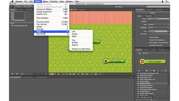 Automatically arranging objects: Encore CS5 Essential Training