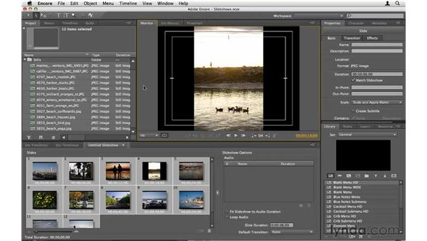Introducing slideshows: Encore CS5 Essential Training