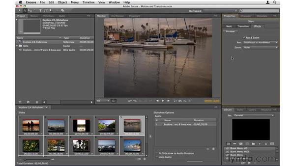 Adding motion and transitions: Encore CS5 Essential Training