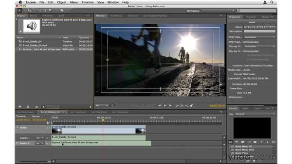 Using audio in Encore: Encore CS5 Essential Training