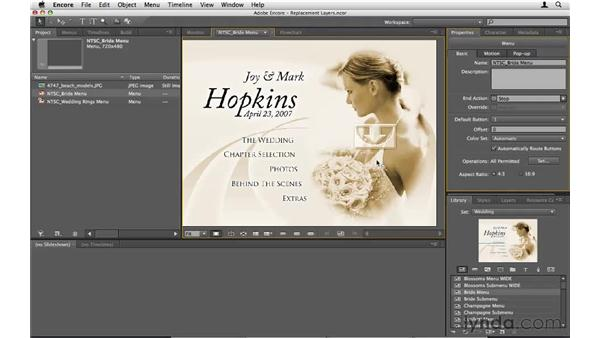 Using replacement layers: Encore CS5 Essential Training