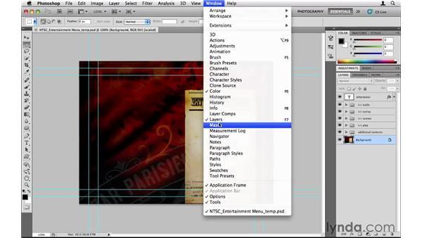 Making menus in Photoshop: Encore CS5 Essential Training