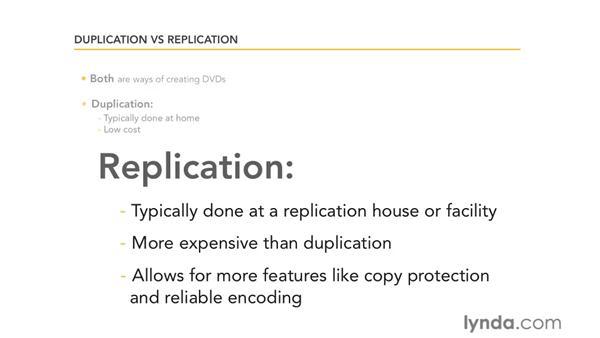 Duplication vs. replication: Encore CS5 Essential Training