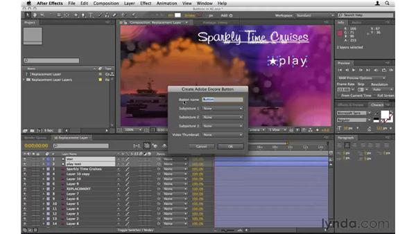 Making buttons and subpictures in After Effects: Encore CS5 Essential Training